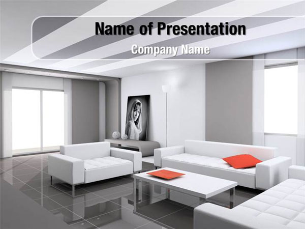Interior Design Of Living Room Powerpoint Templates