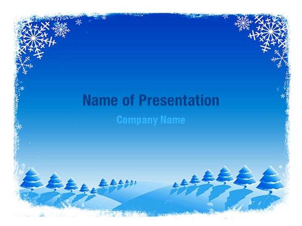 snowflake frame powerpoint templates