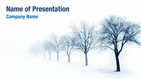 Winter Trees Powerpoint Templates - Winter Trees Powerpoint