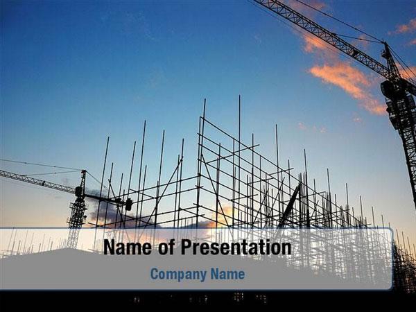 Building Site Powerpoint Templates Building Site