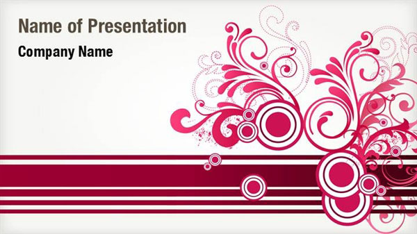 red floral abstract powerpoint templates