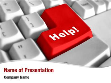 PPT Template   he words Get Help Here symbolizing the need to offer support  and answers