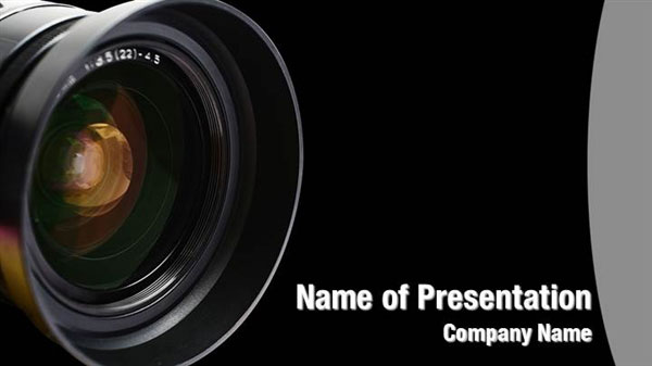 camera lens powerpoint templates