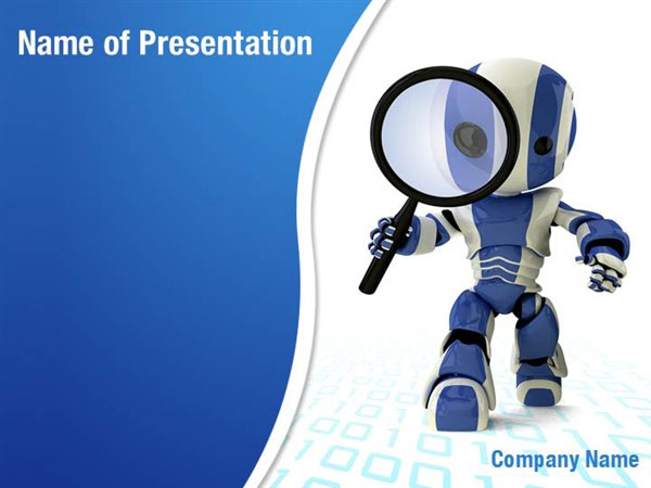 free powerpoint it computer robot backgrounds