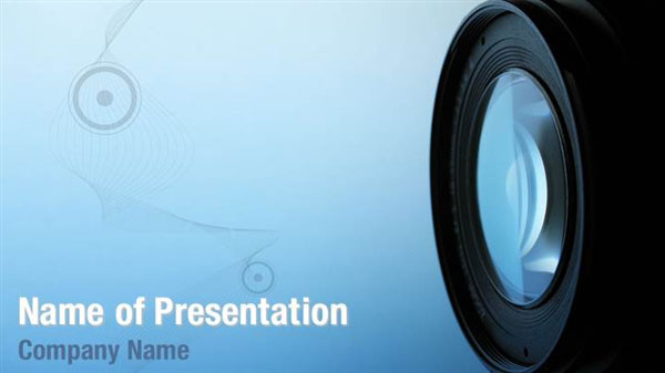 professional camera lens powerpoint templates
