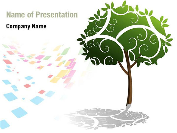Painted Tree PowerPoint Template Backgrounds