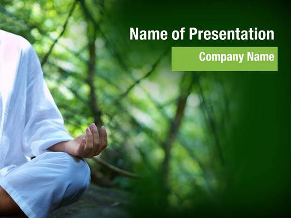 practicing yoga powerpoint templates