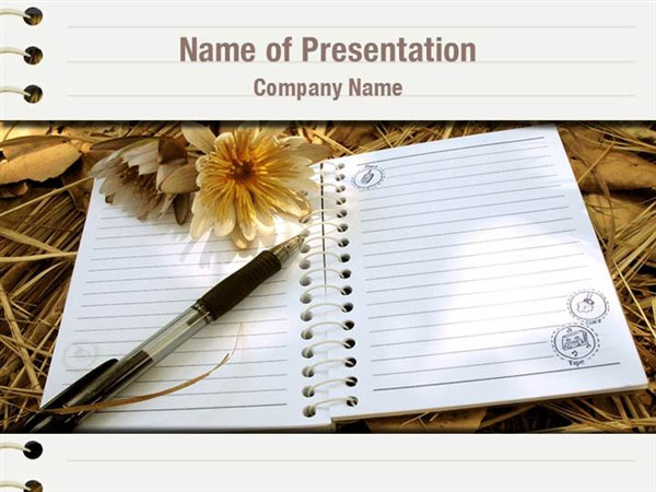 Diary Powerpoint Templates Diary Powerpoint Backgrounds