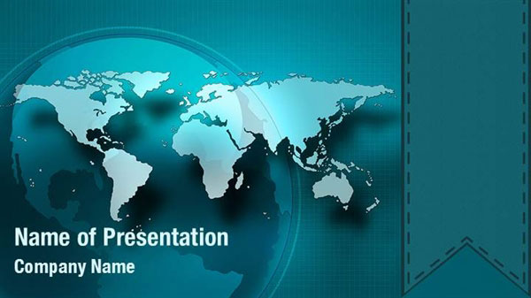 Floating World Map Powerpoint Templates - Floating World Map