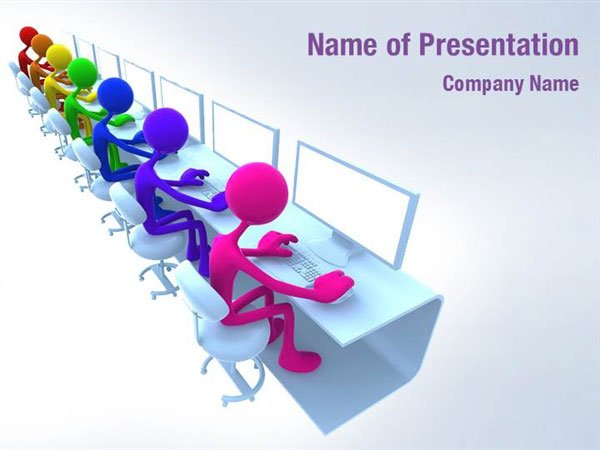 Computer Club PowerPoint Template Backgrounds