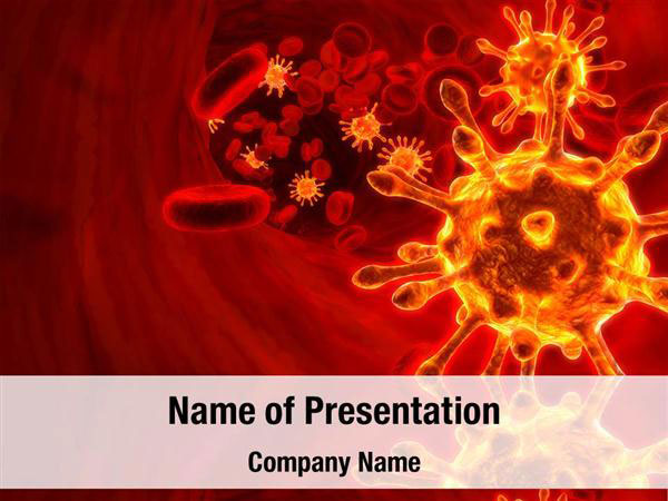virus and blood cell powerpoint templates