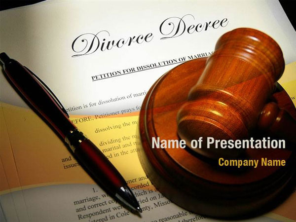 Divorce Decree With Gavel